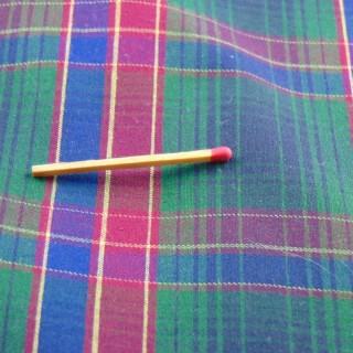 Coupon de coton écossais ancien 155x90cm