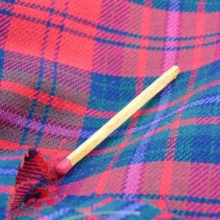 Coupons en laine écossaise douce