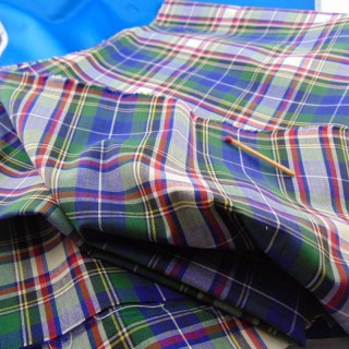 50x60cm plaid cotton coupon