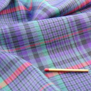 Cupón de algodón a cuadros de 150x45cm