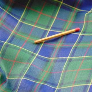 Antiguo cupón de algodón escocés de 150 cm de ancho
