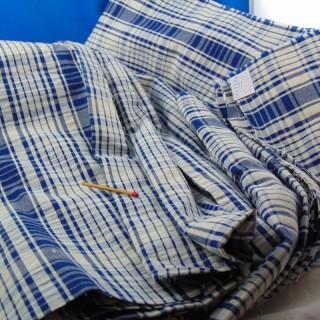 Tissu de coton écossais 150 cm de large