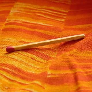 Coupon de coton orange rayé 35 x30cm