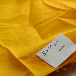 Cupón de algodón naranja 35 x30cm