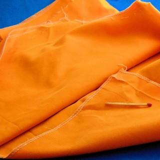 Cupón a rayas de algodón naranja 20 x30cm