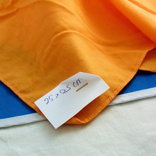 Cupón de algodón naranja claro 20 x 25cm