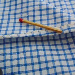 Coupon de tissu ancien en  coton à carreaux 95x140cm