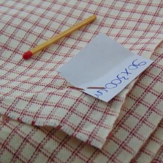 Coupon en laine à carreaux 90x300 cm