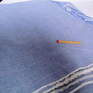 Coupon de coton ancien chambray 150 cm x 100 cm