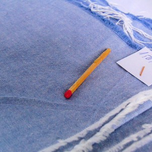 Old cotton coupon chambray 30x30cm