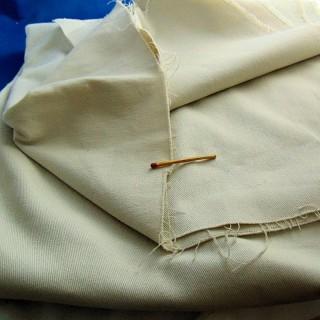 Coupon de sergé de coton 130 cm sur 100 cm