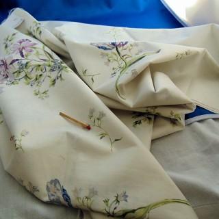 Coupon coton Anne de Solène 240x60 cm