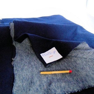 Coupon jersey uni syle jean 100x150 cm