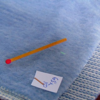 Short acrylic coupon with stripes