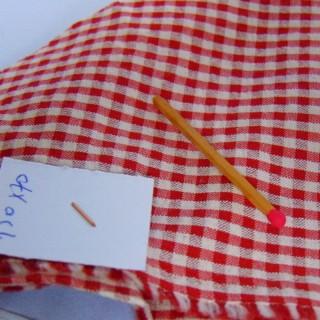 Coupon de tissu ancien en coton à carreaux 150x70cm