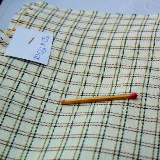 Coupon carreaux coton et laine 150 x 150 cm