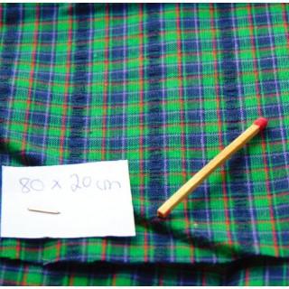 Coupon de coton écossais ancien