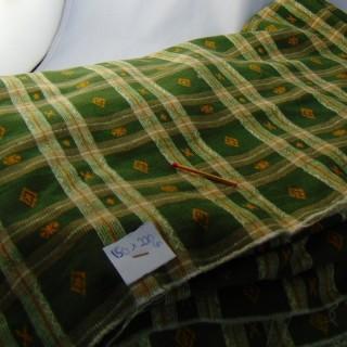 Velvet cotton plaid fabric at 150 x220cm meter