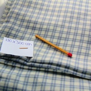 Tissu ancien en coton à carreaux 150 cm de large