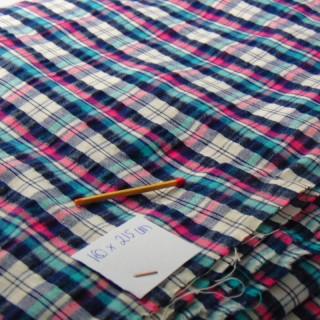 Tissu de coton écossais 160 cm de large