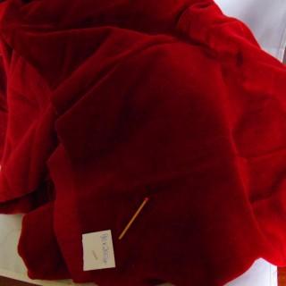 Tissu en velours de coton ras uni au mètre 90 cm