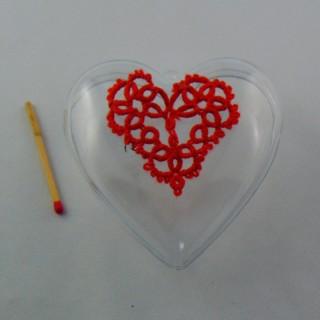 Coeur transparent à remplir en plastique 8 cm