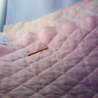 Zócalo forrado de algodón a rayas de 150 cm