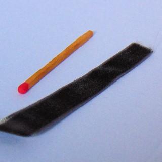 Velvet black ribbons, Ribbon in fabric velevt