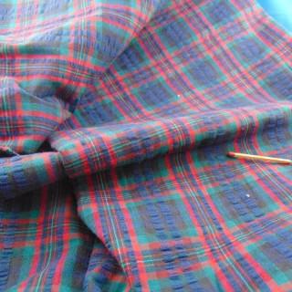 Coupon de coton à carreaux 160x75cm