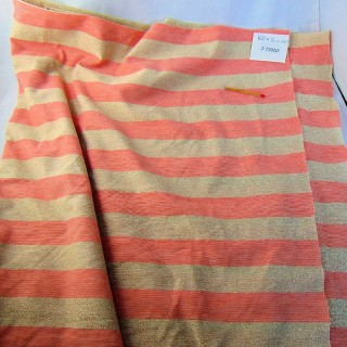 Coupon jersey rayé synthétique 160x160 cm