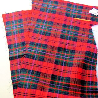 Scottish checked wool coupon