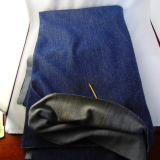 Coupon jersey uni syle jean 170x55 cm