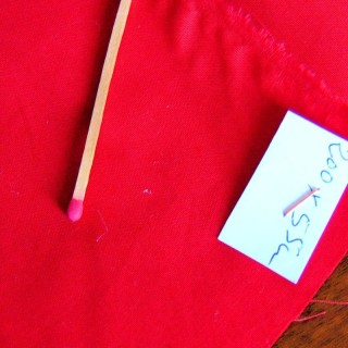 Coupon coton Anne de Solène 200x55 cm