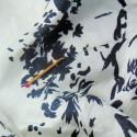 Coupon cotton fabric blue.