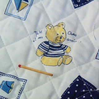 Old padded baby coupon stitched 145x 85 cm