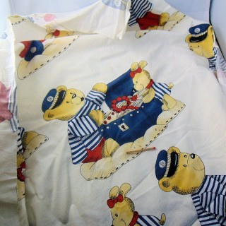 Cupón infantil patrón de algodón cachorros 150x105 cm