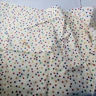Multicolored polka dot cotton coupon