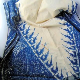 Tissu très ancien impression artisanale 60x200 cm