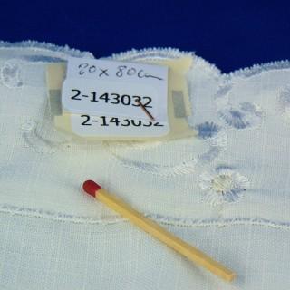Viejo conjunto de mesa doily bordado 28 x 44 cm