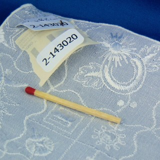 Conjunto de mesa de lino bordado a mano de 28 x 44 cm de edad