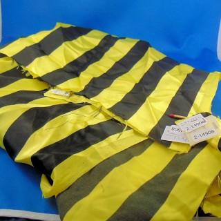 Coupon synthétique à grandes rayures jaune et noires