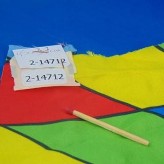 Coupon synthétique à losanges multicolores