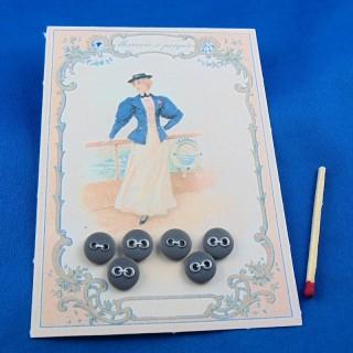 Carte boutons croisière rétro 1900