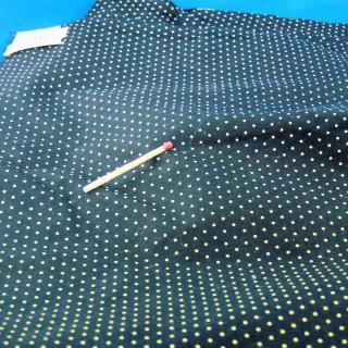 Tejido de algodón con lunares amarillos y negros por 50 centímetros en 140 cm