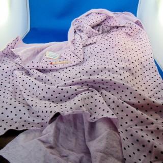 Coupon jersey molletonné à pois coton 145x80 cm
