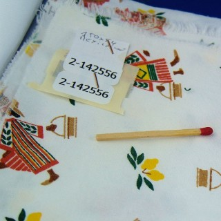 Mexico fancy printed white cotton coupon 150 x 54 cm