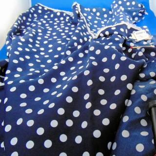 Synthetic polka dot fabric 115 x 110 cm