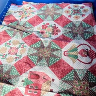 Coupon coton imprimé patchwork 55 x60 cm