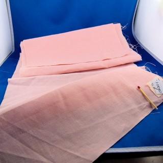 Vieja tira de lino rosa gruesa 27 cm x 175 cm