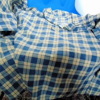 Gutschein aus karierter Baumwolle Breite 75cm x 110 cm